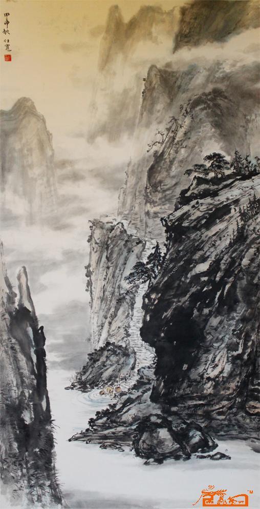 深山藏古寺 郑仕宽 淘宝 名人字画 中国书画交易中心 中国书画销售中心